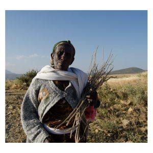 Portrait einer äthiopischen Feldarbeiterin